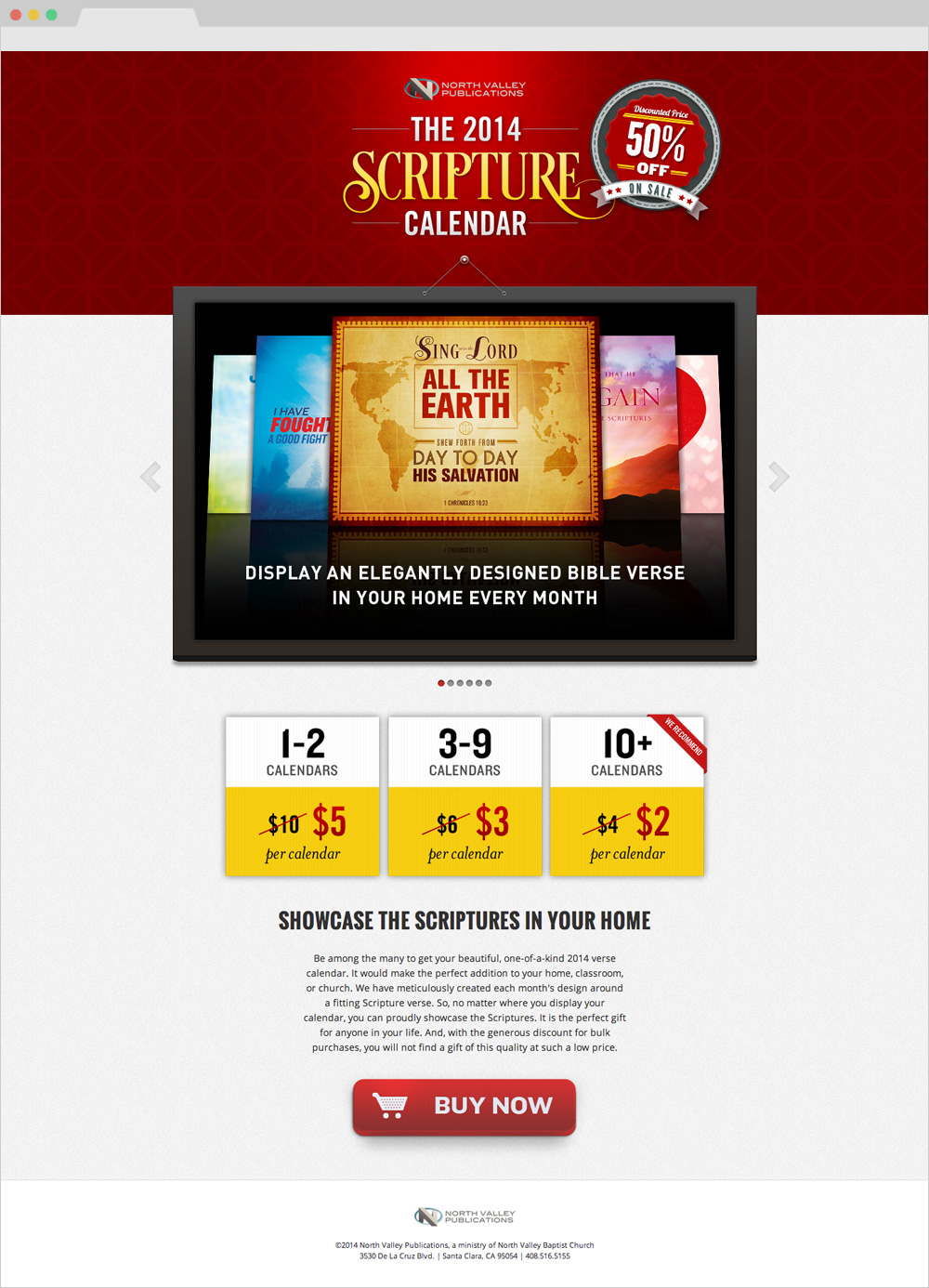 2014 Scripture Calendar