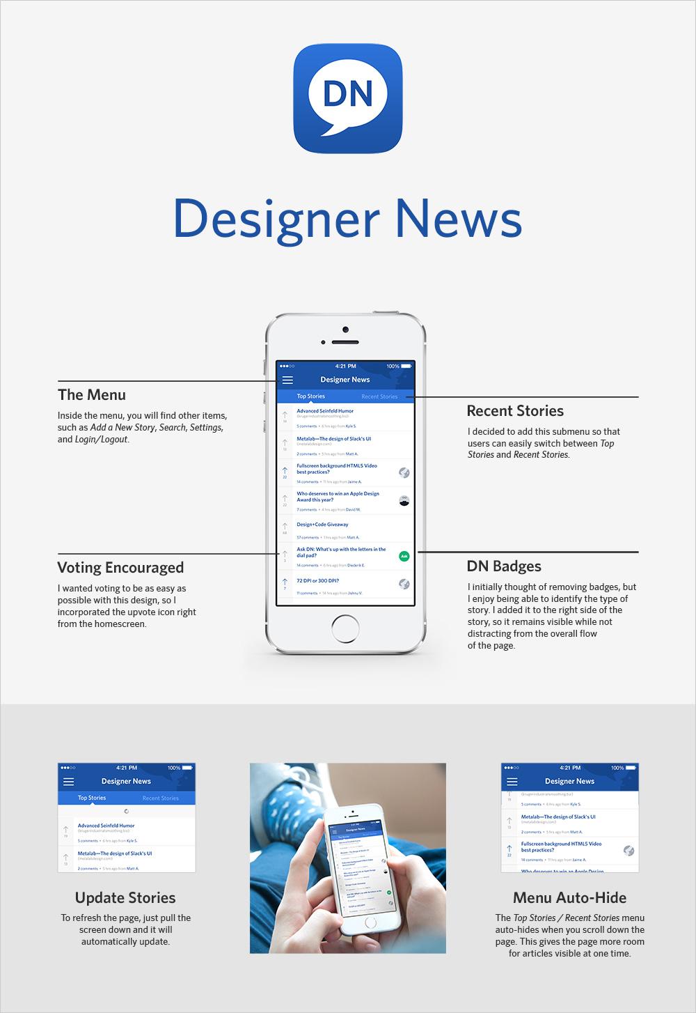 Designer News iPhone App