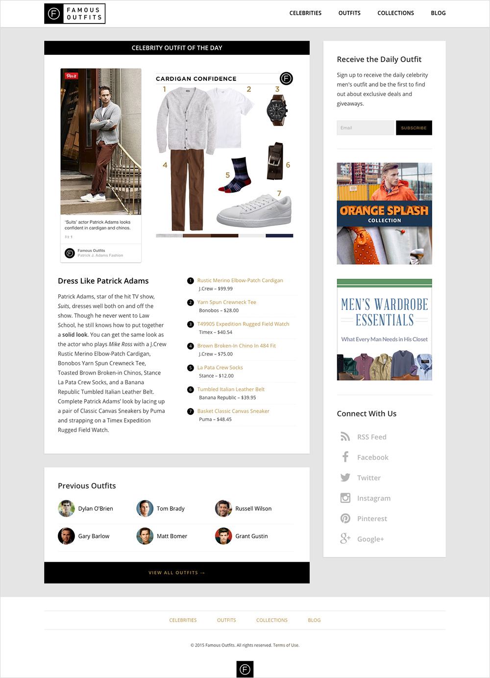 Famous Outfits Website